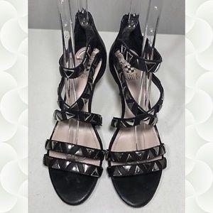 Vince Camuto Studded Strappy Black Heel Sandal